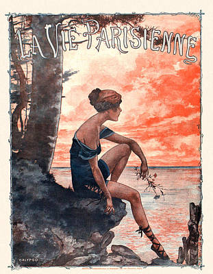 France La Vie Parisienne Magazine Cover Poster by The Advertising Archives