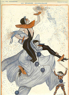 France La Vie Parisienne Magazine Plate Poster by The Advertising Archives