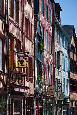 France, Normandy, Rouen, Half-timbered Poster