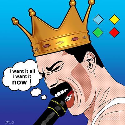 Freddie Mercury Poster by Mark Ashkenazi