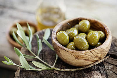 Fresh Olives Poster by Mythja  Photography