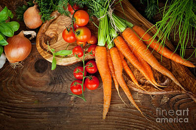 Fresh Vegetables Poster by Mythja  Photography