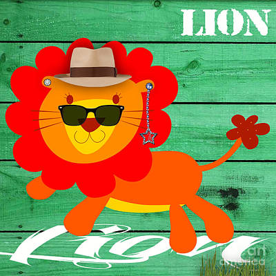 Friendly Lion Collection Poster by Marvin Blaine