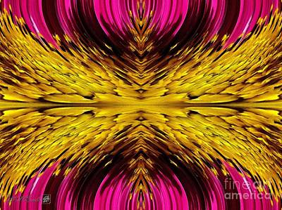 Fuchsia Sensation Abstract Poster by J McCombie