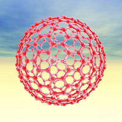 Fullerene Molecule, Artwork Poster by Laguna Design