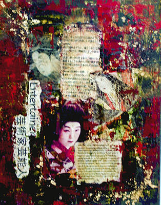 Poster featuring the painting Geisha by Debra Crank