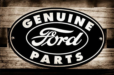Genuine Ford Parts Sign Poster by Jill Reger