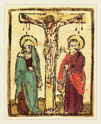 German 15th Century, Christ On The Cross Poster
