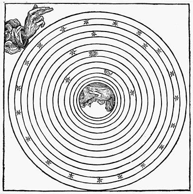 God Creating World, 1493 Poster