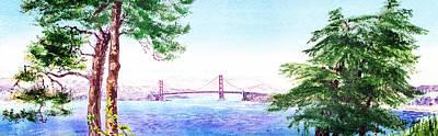 Golden Gate Bridge San Francisco Poster by Irina Sztukowski