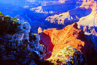 Grand Canyon From Hermit's Rest Road Poster