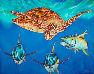 Green Sea Turtle Poster by Daniel Jean-Baptiste