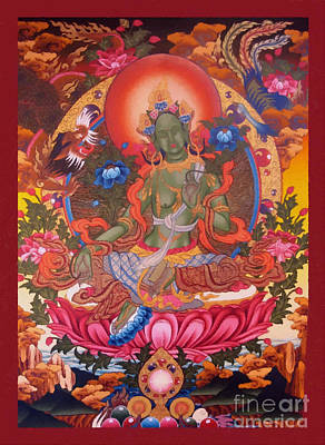 Green Tara 10 Poster by Lanjee Chee