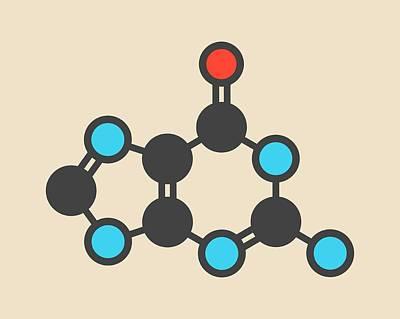 Guanine Purine Nucleobase Molecule Poster by Molekuul