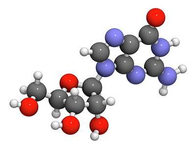Guanosine Purine Nucleoside Molecule Poster