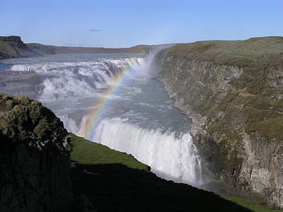 Poster featuring the photograph Gullfoss by Christian Zesewitz