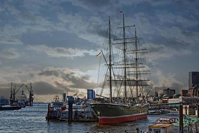 Hamburg Harbor Poster by Joachim G Pinkawa