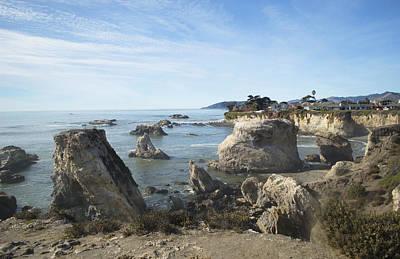 Hazy Lazy Day Pismo Beach California Poster by Barbara Snyder
