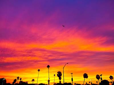 Hobie Beach Sunset Poster by Jonathan Gewirtz