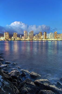 Honolulu Skyline Poster by Babak Tafreshi