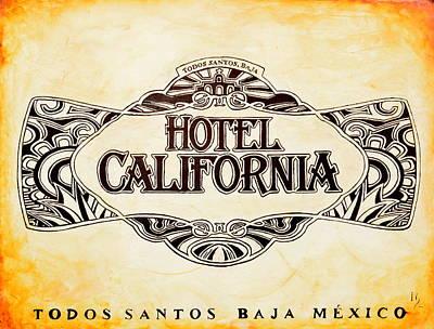 Hotel California Poster by Ivan Guaderrama