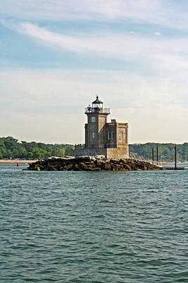 Poster featuring the photograph Huntington Lighthouse by Karen Silvestri