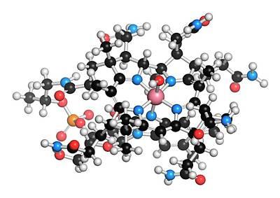 Hydroxocobalamin Vitamin B12 Molecule Poster