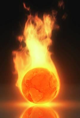 Illustration Depicting Global Warming Poster by Mark Garlick