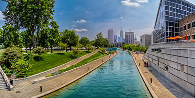 Indianapolis Skyline From The Canal Poster
