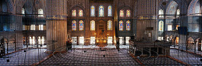 Interiors Of A Mosque, Blue Mosque Poster by Panoramic Images