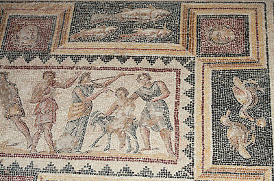 Israel, Lower Galilee, Floor Mosaic Poster