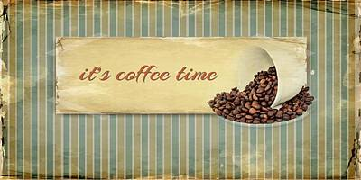 Its Coffee Time Poster by Heike Hultsch