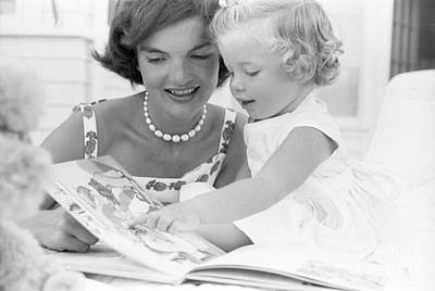 Jacqueline And Caroline Kennedy At Hyannis Port 1959 Poster by The Harrington Collection