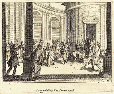 Jacques Callot French, 1592 - 1635, Stoning Of Jesus Poster