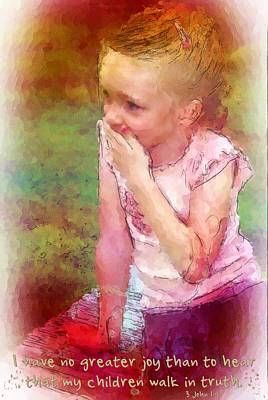 3 John 1 4 Poster by Michelle Greene Wheeler