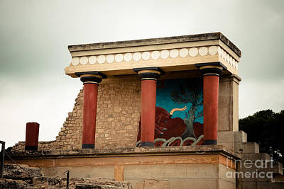 Knossos Archeological Site Poster by Gabriela Insuratelu