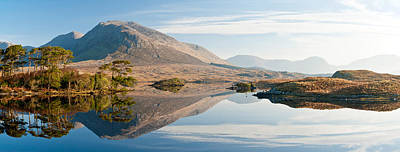 Lake At Dawn, Derryclare Lake Poster by Panoramic Images