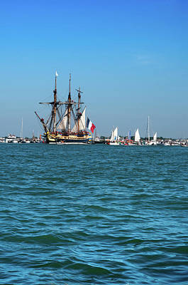 Lhermione Ship In The Estuary Poster