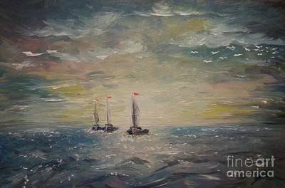 3 Little Boats Poster by Isabella F Abbie Shores FRSA
