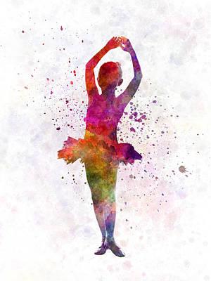 Little Girl Ballerina Ballet Dancer Dancing Poster by Pablo Romero