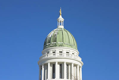 Maine State Capitol Building In Augusta Poster
