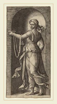 Marcantonio Raimondi After Raphael Italian Poster