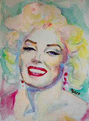 Poster featuring the painting Marilyn by Laur Iduc