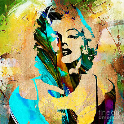 Marilyn Monroe Painting Poster by Marvin Blaine