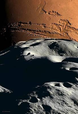 Mars As Seen From Phobos, Artwork Poster by Detlev van Ravenswaay