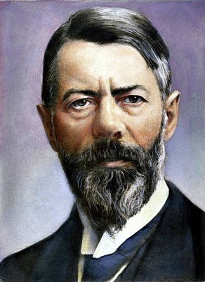 Max Weber (1864-1920) Poster