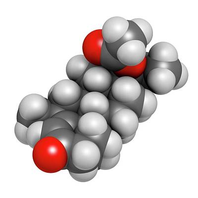 Medroxyprogesterone Acetate Drug Molecule Poster by Molekuul