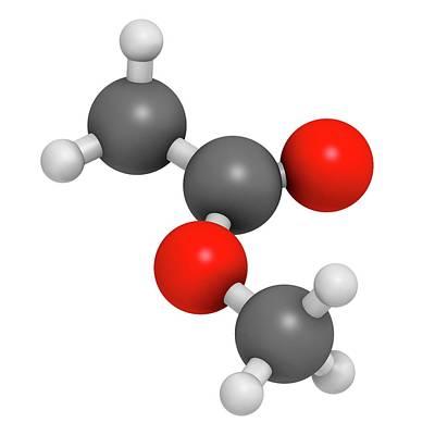 Methyl Acetate Solvent Molecule Poster by Molekuul