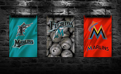 Miami Marlins Poster by Joe Hamilton