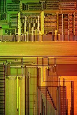 Microprocessor Components Poster